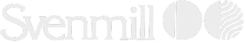 Svenmill logo in white